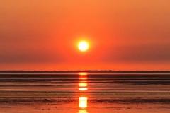 Abendsonne im Wattenmeer